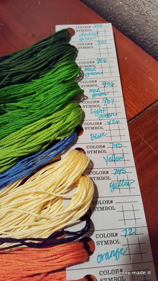 organized floss