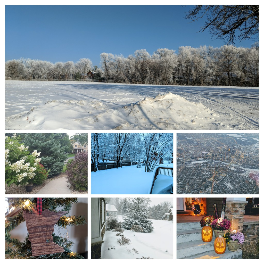 Collage of photos of our new life in Minnesota